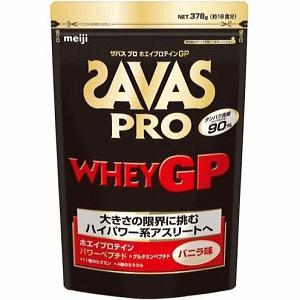 SAVAS ザバス プロテイン プロ ホエイプロテインGP バニラ味  粉末:378gバッグ 約18食分   目的:ボディーメイク  CJ7346  明治製菓 サプリメント|spo-stk