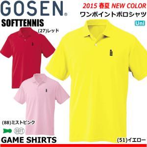 \SALE 40%OFF/GOSEN(ゴーセン)ソフトテニスウェア・ワンポイントポロシャツ・ユニフォーム・半袖シャツ ユニセックス:男女兼用  T1308 (テニス・バドミント|spo-stk