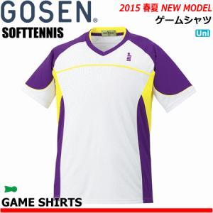 \SALE 50%OFF/GOSEN[ゴーセン] ソフトテニス ウェア・ゲームシャツ・ユニホーム・半袖シャツ[T1504] ユニセックス:男女兼用 (テニス・バドミントン) G50|spo-stk