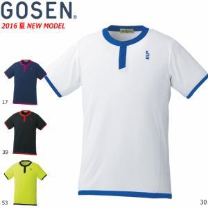 \期間限定 60%OFF/GOSEN[ゴーセン]ソフトテニス ウェア ゲームシャツ ユニホーム 半袖シャツ[T1618] ユニセックス:男女兼用 バドミントン 1枚までメール|spo-stk