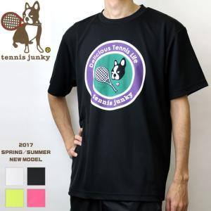 即日発送 40%OFF tennis junky テニスジャンキーソフトテニス ウェア 半袖ドライTシャツ 練習着 夢(ウィンブルドン)[TJ17001] ユニセックス:男女兼|spo-stk