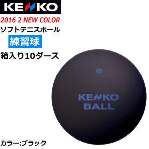 ケンコー ソフトテニスボール スタンダード 練習球:10ダース箱入り(120球) カラー:ブラック  ナガセケンコー  送料無料  smtb-MS spo-stk