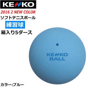 ケンコー ソフトテニスボール スタンダード 練習球:5ダース箱入り(60球) カラー:ブルー  ナガセケンコー  送料無料  smtb-MS spo-stk