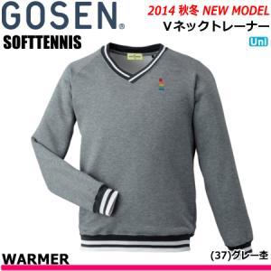 \40%OFF  /GOSEN[ゴーセン] ソフトテニス ウェア・Vネックトレーナー・長袖シャツ[W1402] ユニセックス:男女兼用 (テニス・バドミントン) G40  返品・交|spo-stk