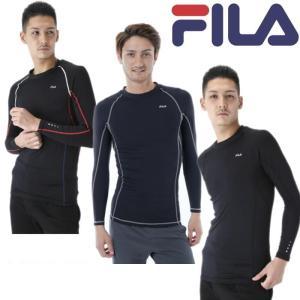 ◆フィラ クルーネックロングスリーブ マルチコンプレッションシャツ【448−124】です ◆メンズサ...