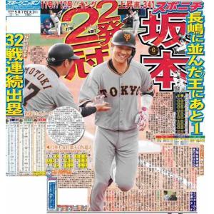 スポーツニッポン東京最終版5月7日付特報版