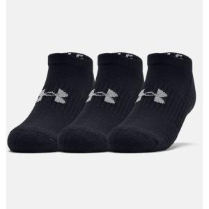 アンダーアーマー UNDER ARMOR メンズ トレーニング ソックス 靴下 UA トレーニング コットン ノーショー 1359221 001|SPOPIA NET SHOP