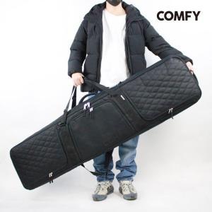 コンフィ ウィーリーボードケース COMFY WHEELIE BOARD CASE Black Black Quilting ローラー付きバッグ スノーボード|sports-ex