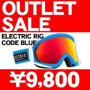 訳あり/アウトレット 14-15 2015 ELECTRIC RIG CODE BLUE Bronze/Red Chrome エレクトリック ゴーグル EG1414202/BRDC|sports-ex