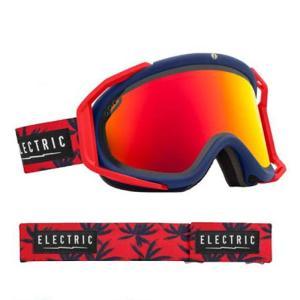 訳あり/アウトレット エレクトリック ゴーグル 14-15 ELECTRIC RIG BLUE FRONDS Bronze/Red Chrome EG1414301/BRDC|sports-ex