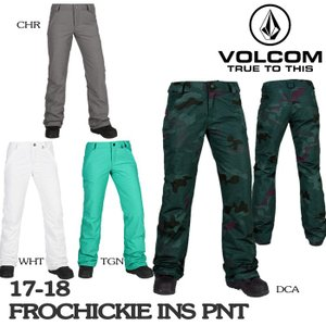 2018 VOLCOM ボルコム ウェア パンツ Women's FROCHICKIE INS PANT 17-18|sports-ex