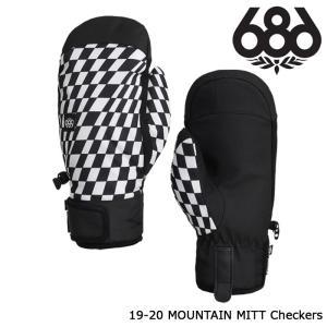 シックスエイトシックス ミット 19-20 686 MOUNTAIN MITT Checkers ミトン 日本正規品|sports-ex