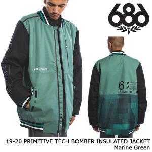 シックスエイトシックス ウェア ジャケット 19-20 686 PRIMITIVE TECH BOMBER INSULATED JACKET Marine Green 日本正規品 sports-ex