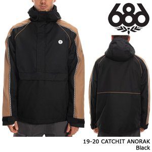 シックスエイトシックス ウェア アノラックジャケット 19-20 686 CATCHIT ANORAK Black 日本正規品 sports-ex
