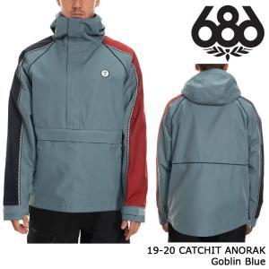 シックスエイトシックス ウェア アノラックジャケット 19-20 686 CATCHIT ANORAK Goblin Blue 日本正規品 sports-ex
