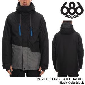 シックスエイトシックス ウェア ジャケット 19-20 686 GEO INSULATED JACKET Black Colorblock 日本正規品 sports-ex