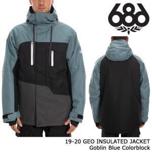 シックスエイトシックス ウェア ジャケット 19-20 686 GEO INSULATED JACKET Goblin Blue Colorblock 日本正規品 sports-ex