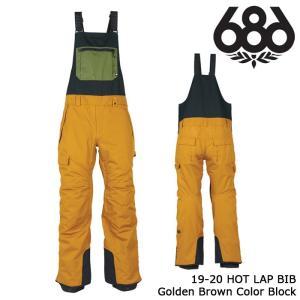 シックスエイトシックス ウェア ビブパンツ 19-20 686 HOT LAP BIB Golden Brown Color Block 日本正規品 sports-ex