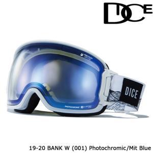 ダイス ゴーグル 19-20 DICE BANK W(001) PHOTOCHROMIC/MIT BLUE BK95191W ジャパンフィット 日本正規品|sports-ex