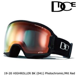 ダイス ゴーグル 19-20 DICE HIGH ROLLER BK(041) PHOTOCHROMIC/MIT RED HR95190BK ジャパンフィット 日本正規品|sports-ex