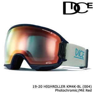 ダイス ゴーグル 19-20 DICE HIGH ROLLER KM4K - BL(004) PHOTOCHROMIC/MIT RED HR95190GBL ジャパンフィット 日本正規品|sports-ex