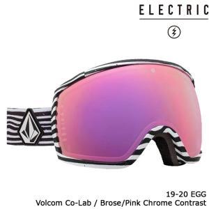 エレクトリック ゴーグル 19-20 ELECTRIC EGG VOLCOM CO-LAB Brose/Pink Chrome Contrast 20EGGV アジアンフィット 日本正規品|sports-ex