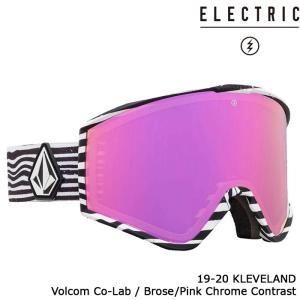 エレクトリック ゴーグル 19-20 ELECTRIC KLEVELAND VOLCOM CO-LAB Brose/Pink Chrome Contrast 20KV アジアンフィット 日本正規品|sports-ex