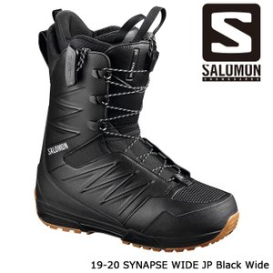 サロモン ブーツ 19-20 SALOMON SYNAPSE WIDE JP Black Wide ...