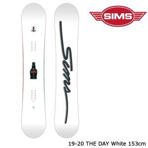 シムス スノーボード 板 19-20 SIMS THE DAY White 153 ザ デイ 日本正規品|sports-ex