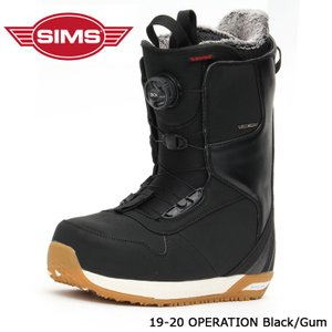 シムス ブーツ 19-20 SIMS OPERATION Black/Gum オペレーション 日本正規品|sports-ex