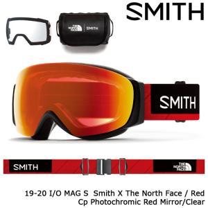 スミス ゴーグル 19-20 SMITH I/O MAG S SMITH x THE NORTH FACE/RED Cp Photochromic Red Mirror/Clear 010260003 アイオー マグ エス 日本正規品|sports-ex
