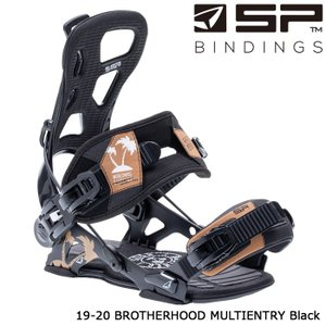 エスピー ビンディング 金具 19-20 SP BROTHERHOOD Multientry Black ブラザーフッド 日本正規品|sports-ex