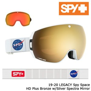 スパイ ゴーグル 19-20 SPY LEGACY SPY SpaceHD+Bronze w/Gold Spectra Mirror HD+Low Light Gray Green w/Red Spectra Mirror アジアンフィット 日本正規品|sports-ex