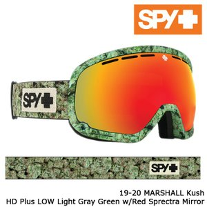スパイ ゴーグル 19-20 SPY MARSHALL Kush HD+ Low Light Gray Green w/Red Spectra Mirror アジアンフィット 日本正規品|sports-ex