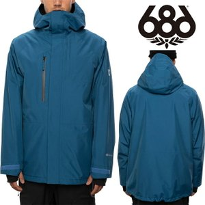 シックスエイトシックス ウェア ジャケット 20-21 686 GORE-TEX CORE JACKET Blue Storm M0W105 スノーボード ゴアテックス 日本正規品|sports-ex