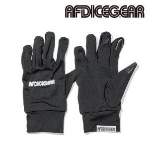 エーエフディー グローブ 20-21 AFDICEGEAR INNER GLOVE Black スノーボード 日本正規品|sports-ex