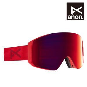 アノン ゴーグル 20-21 ANON SYNC ASIAN FIT + BONUS LENS Red/Perceive Sunny Red スノーボード スキー アジアンフィット 日本正規品|sports-ex