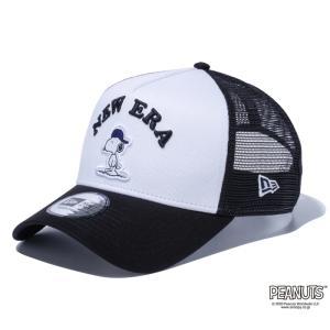 ニューエラ NEW ERA 9FORTY A-Frame トラッカー PEANUTS ピーナッツ スヌーピー ホワイト ブラックメッシュ 56.8 - 60.6cm キャップ 帽子 日本正規品|sports-ex