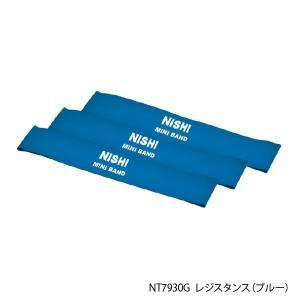 NISHI ニシ・スポーツ ミニバンド 3本組 nt7930g トレーニングループ レジスタンス ブルー 自宅トレーニング|sports-joy