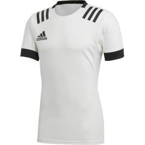 adidas アディダス ラグビー 3ストライプジャージー FXU53 WHT/BLK|sports-lab