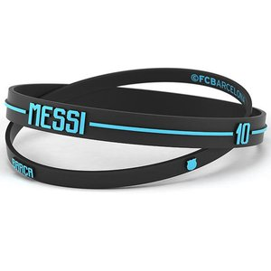 FC Barcelona 2pk Silicone Wristbands Messi Adults ...
