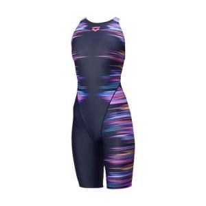 アリーナ 競泳水着 FAR8562W NVPK サイズ女L セイフリーバックスパッツ(着やストラップ) FINA承認 2018年秋冬モデル|sports-will