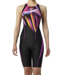 アリーナ 競泳水着 ARN9060W BKPL サイズ女L セイフリーバックスパッツ(着やストラップ) FINA承認 2019年春夏モデル|sports-will