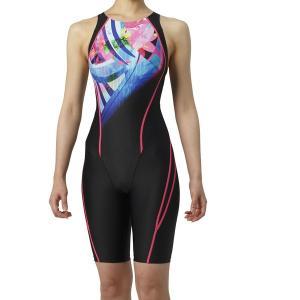 アリーナ 競泳水着 ARN9072W BKBU サイズ女L セイフリーバックスパッツ(着やストラップ) FINA承認 2019年春夏モデル|sports-will