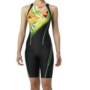 アリーナ 競泳水着 ARN9072W BKGN サイズ女L セイフリーバックスパッツ(着やストラップ) FINA承認 2019年春夏モデル|sports-will