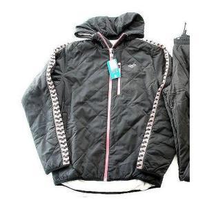 OFF】アリーナ チームライン中わたフードジャケット ARF4606 BKPK サイズ男性用O
