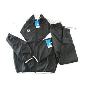 【期間限定・40%OFF】アリーナ ウインドアップジャケット+パンツ ARN8300+ARN8301P BKGY サイズ男性用XO|sports-will