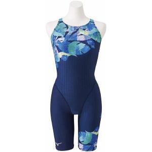 【5/31まで・20%OFF】ミズノ 競泳水着 N2MG025183 サイズ女XL ハーフスーツ(マスターズバック) FINA承認 AYA COLLECTION 2020年春夏モデル|sports-will