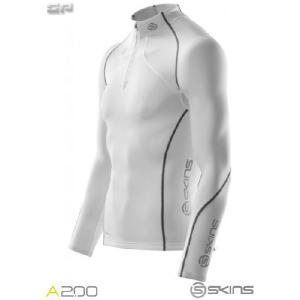 [2012-13モデル]SKINS(スキンズ) J60052025 A200 メンズ サーマル ロングスリーブトップ モックネック(ジッパー) 段階着圧+保温性の冬用モデル sports