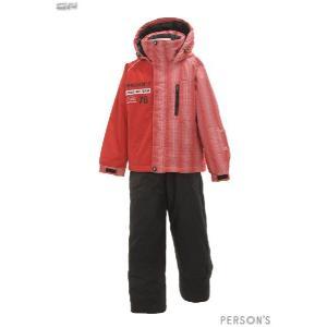 PERSONS(パーソンズ) PSB-3431 ジュニアボーイズ スキーウェア 上下セット☆RED|sports|02